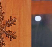 Golden Snow Flake Sticker