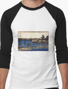 Benten Shrine Shinobazu Pond - Hiroshige Ando - 1837 - woodcut Men's Baseball ¾ T-Shirt