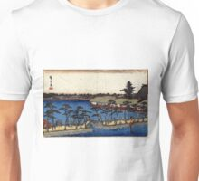 Benten Shrine Shinobazu Pond - Hiroshige Ando - 1837 - woodcut Unisex T-Shirt