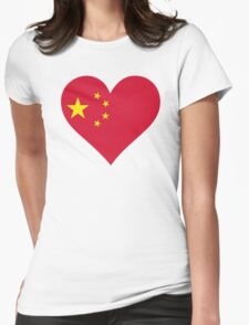 A heart for China Womens Fitted T-Shirt