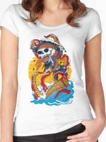 skull pirates Women's Fitted Scoop T-Shirt
