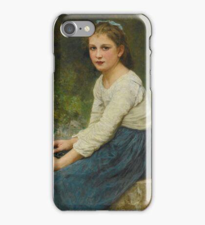 William Bouguereau - FRENCH JEUNE FILLE AUX RAISINS iPhone Case/Skin