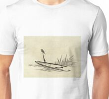 Bird And Boat Among Reeds - anon - 1870 - Drawing Unisex T-Shirt