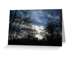 Winter walk in the english country side Greeting Card