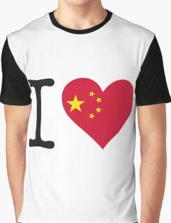 I Love China Graphic T-Shirt