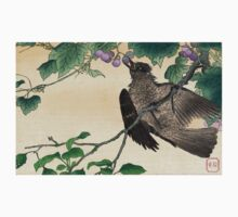 Birds And Flowers - anon - 1900 - woodcut Baby Tee