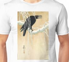Blackbird In Snow - Koson Ikeda - 1867 - woodcut Unisex T-Shirt