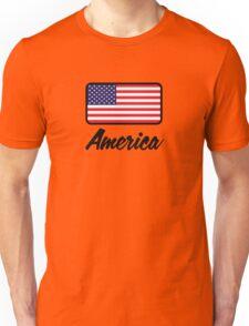 National flag of America Unisex T-Shirt