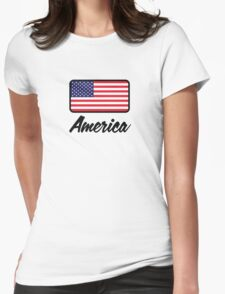 National flag of America Womens Fitted T-Shirt