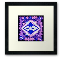 3D Mapping Art Framed Print