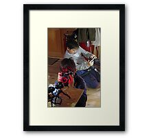 Playing The Photo Game Framed Print