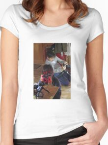 Playing The Photo Game Women's Fitted Scoop T-Shirt