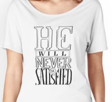 Satisfied Typography Women's Relaxed Fit T-Shirt