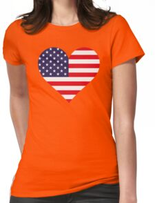 A heart for America Womens Fitted T-Shirt