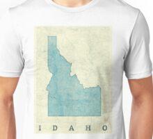 Idaho State Map Blue Vintage Unisex T-Shirt