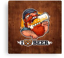 Man Loves Beer Canvas Print