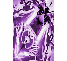 Purple graffiti  Photographic Print