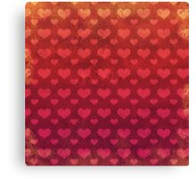 Love Red Pattern Canvas Print