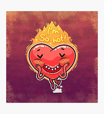 Cute Burning Heart for Valentine's Day Photographic Print