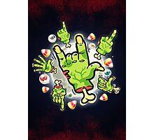 Cartoon Zombie Hands Photographic Print