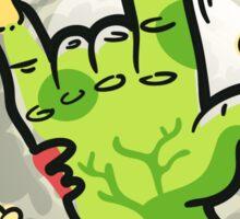 Cartoon Zombie Hands Sticker