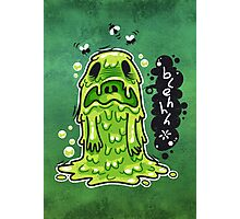 Cartoon Nausea Monster Photographic Print