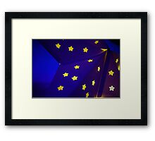 Blue Star with yellow stars Framed Print