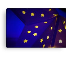 Blue Star with yellow stars Canvas Print