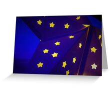 Blue Star with yellow stars Greeting Card