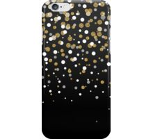 Pretty modern girly faux gold glitter confetti ombre illustration iPhone Case/Skin