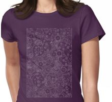 Clockwork B&W inverted Womens Fitted T-Shirt