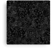 Clockwork B&W inverted Canvas Print