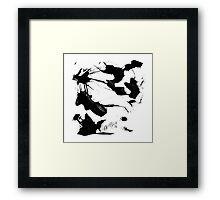 Byn abstract serie n°7 Framed Print