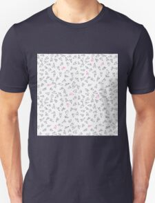 Kawaii cute pink and black hearts. Indie and oh so super cute.  T-Shirt