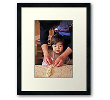 Baking Together Framed Print
