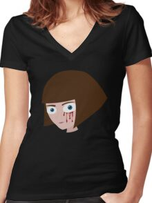 Fran Bow - Blood Women's Fitted V-Neck T-Shirt