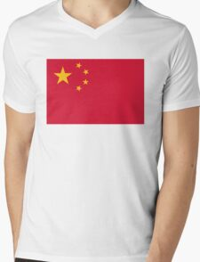 National Flag of China Mens V-Neck T-Shirt