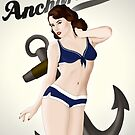 Anchors Aweigh - Classic Pin Up by Nicklas Gustafsson