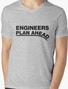Engineers Plan Ahead Mens V-Neck T-Shirt