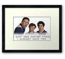 Freaks ans Geeks Framed Print
