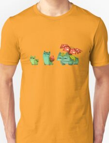 Pokemon Bulvasaur Evolution  T-Shirt