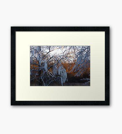 January riverside Framed Print