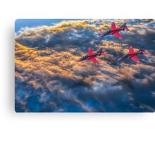 Red Arrows Above The Clouds Canvas Print