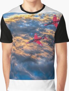 Red Arrows Above The Clouds Graphic T-Shirt