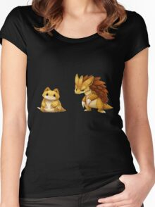 Pokemon Sandshrew Evolution Women's Fitted Scoop T-Shirt
