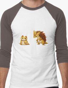Pokemon Sandshrew Evolution Men's Baseball ¾ T-Shirt