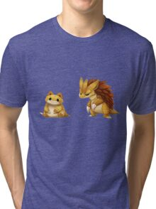 Pokemon Sandshrew Evolution Tri-blend T-Shirt