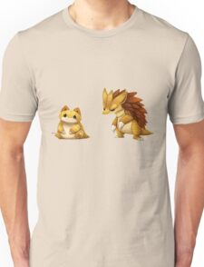Pokemon Sandshrew Evolution Unisex T-Shirt