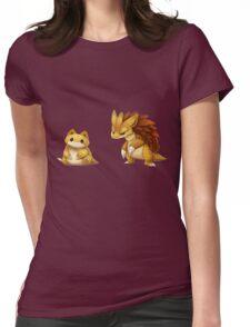 Pokemon Sandshrew Evolution Womens Fitted T-Shirt