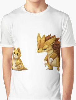 Pokemon Sandshrew Evolution Graphic T-Shirt